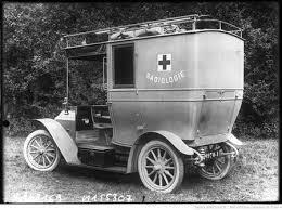 Cabinas Petite Curie de radiologia en la Primera Guerra Mundial