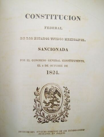 República Federal: Primer Presidente Guadalupe Victoria