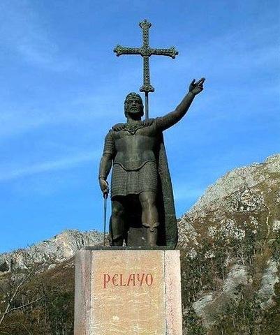 Batalla de Covadonga. Creación del reino de Asturias.