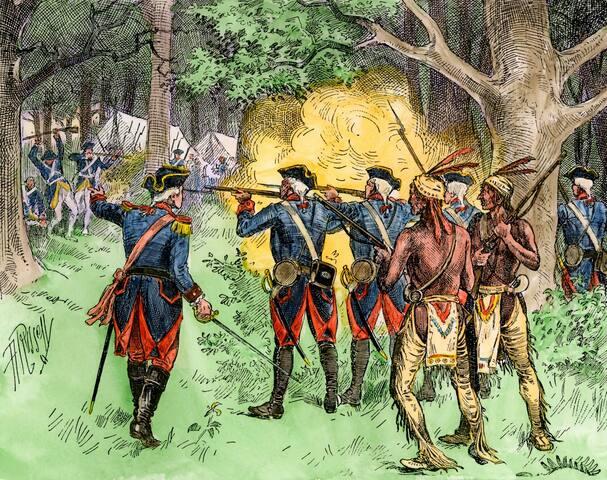 George Washington creating Ft. Necessity.
