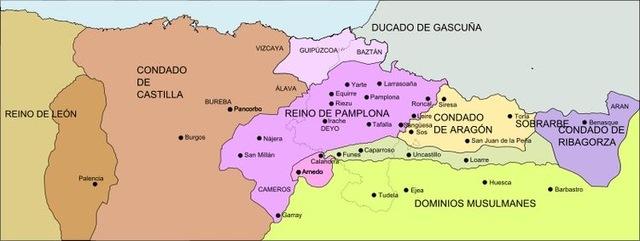 División del reino de Pamplona