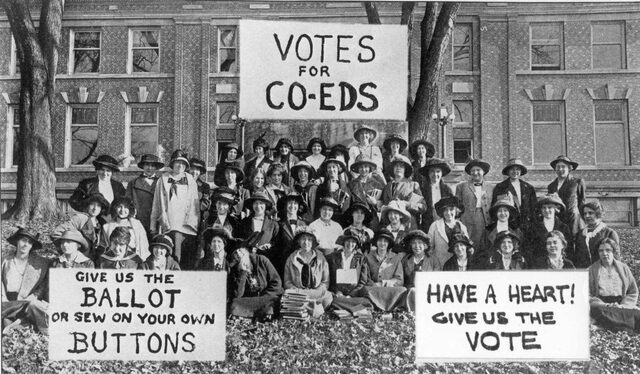 Woman get the right to vote