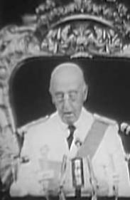 Franco si proclama unico Caudillo d'Iberia in diretta internazionale