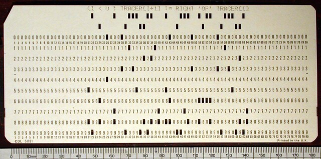 invento  de   tarjeta  perforada