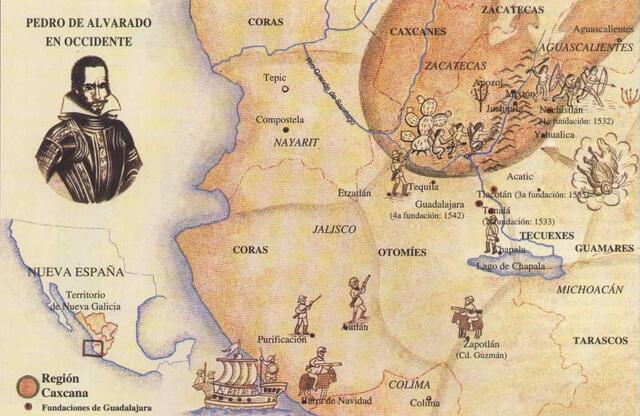 Fundaciones de Guadalajara (Nochistlán, Tonalá, Tlacotán y Valle de Atemajac)