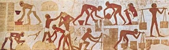 Bloques de piedra medidos por egipcios