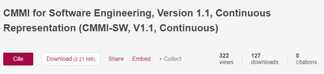 CMM para software V1.1