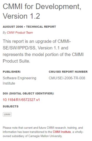 CMMI-DEV V1.2