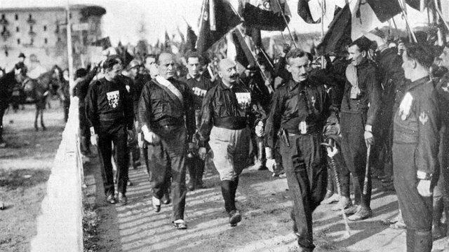 Marcha sobre roma de Mussolini