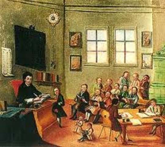 Classrooms in the 1700's
