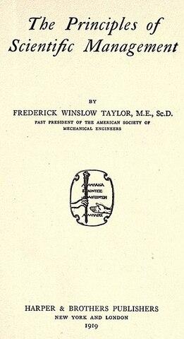 Principles of Scientific Management (1911)