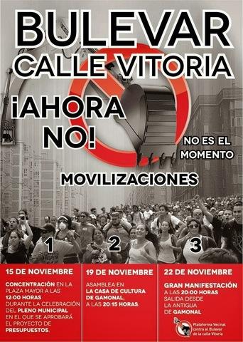 Manifestaciones contra las obras del Bulevar