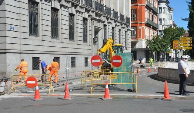 Inicio de las obras en la calle Victoria