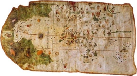 Primer mapamundi on surt Amèrica