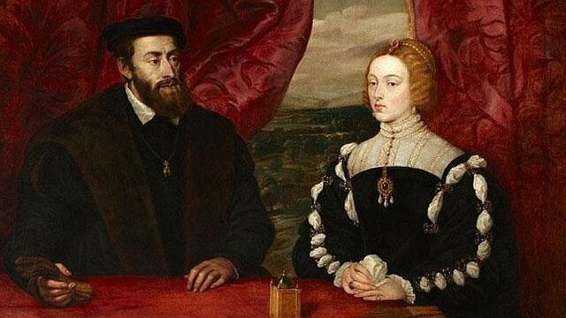Carles I es casa amb Isabel de Portugal.