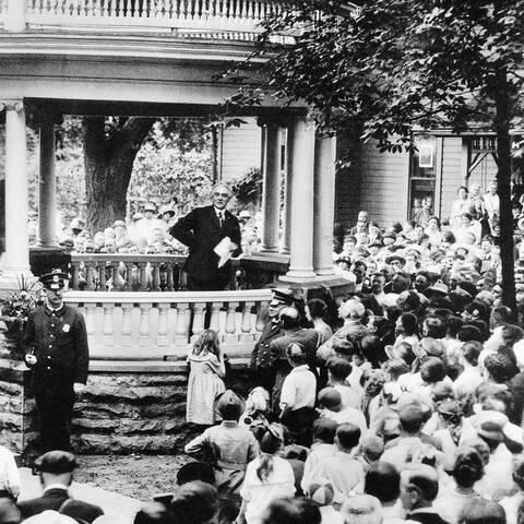 Warren G. Harding elected president