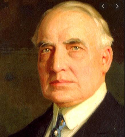 Harding winning the presidency