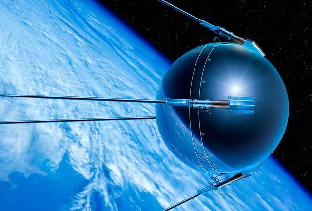 Lanzamiento del primer satélite artificial Sputnik 1