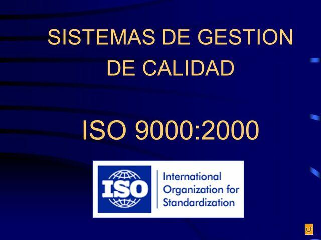 Sensibilización del Sistema de Calidad ISO 9000:2000