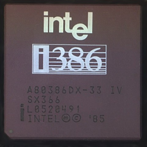 El Intel 80386 (i386, 386) es un microprocesador CISC con arquitectura x86.