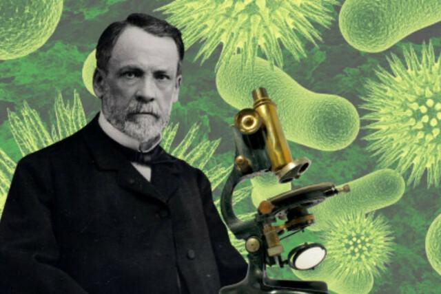 Louis Pasteur y el microscopio