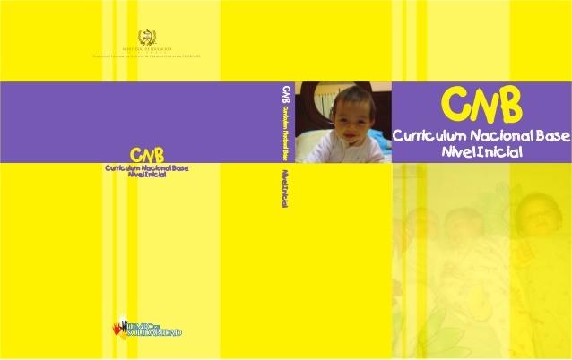 Currículo Nacional Base para el nivel de educación inicial.