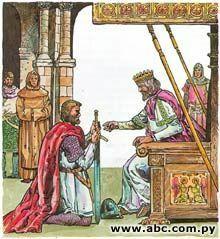 El rey perdona a la familia del cid