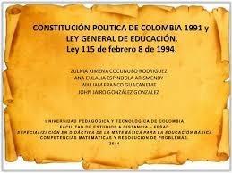 constitución política ley general de educación