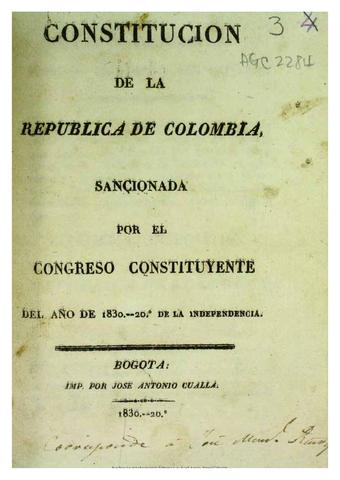 Segunda constitución de la República