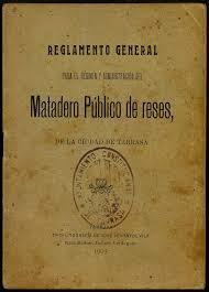 Real Orden de Reglamento General de Mataderos