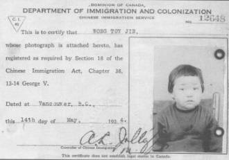 Chinese immigration during the great depression