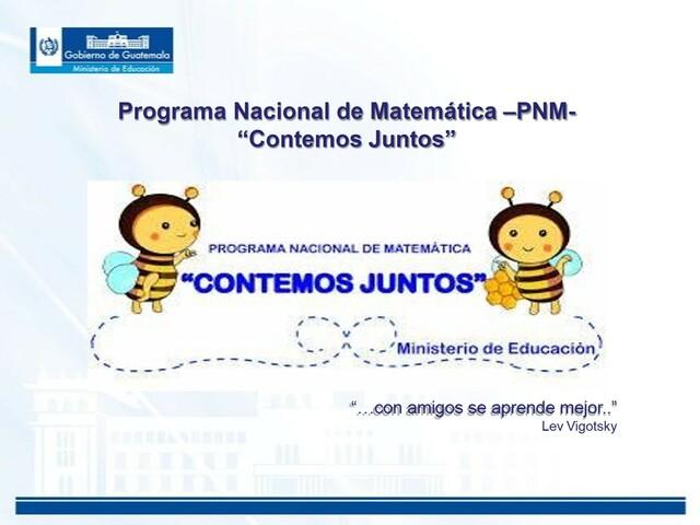 "Programa Nacional de Matemática ""Contemos Juntos"""