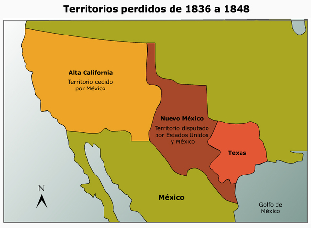 Nuevo Mexico y Alta California fueron anexados por Estados Unidos