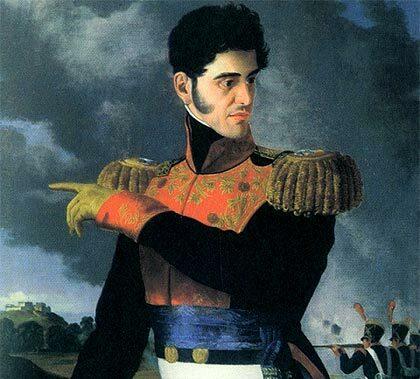 Establecimiento del régimen centralista a manos de Antoni López de Santa Anna.