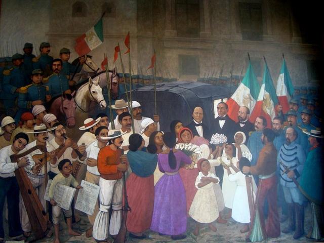 Juárez regresa triunfal a la Ciudad de México