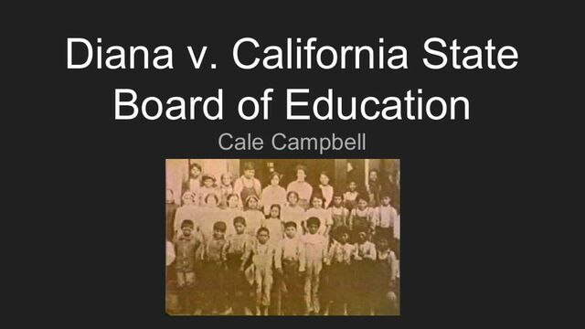 Diana v. State Board of Education