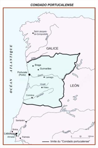 Entrega del Condado Portucalense a Enrique de Borgoña