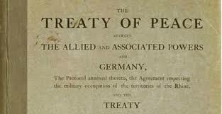El Tratado de Versalles.