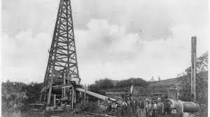 Perforación del primer pozo de petroleo en Vitusville.