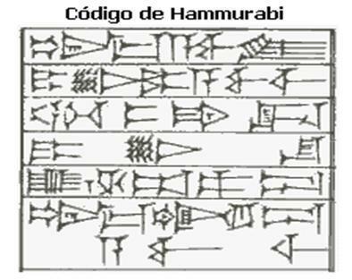Codigo Hammurabi, Mesopotamia.