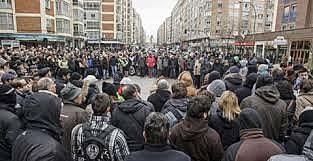 Sentadas y crisis política municipal en Burgos.