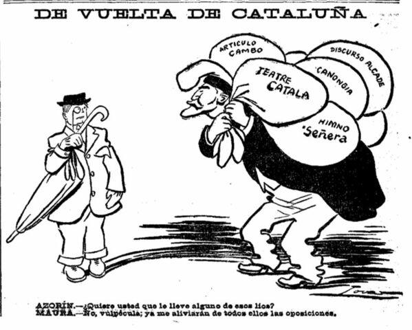 Caricatura dedicada a Azorín