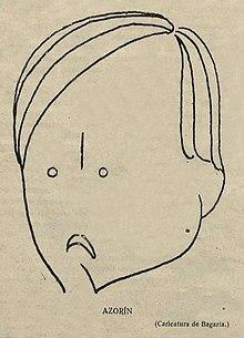 Dibujo de Azorín