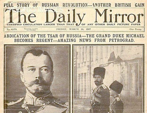 Abdica el zar Nicolás II
