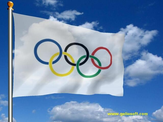 Olympic flag made debut