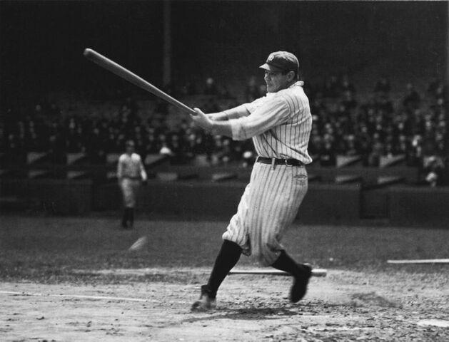 Babe Ruth hits 60th Home Run