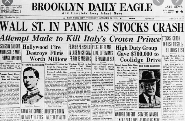 Black Thursday and the Big Crash