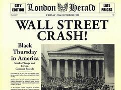 El 24 de octubre de 1929 cae la Bolsa de Nueva York