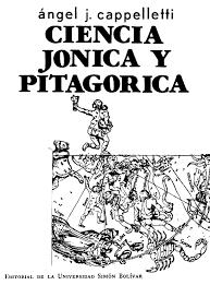 Síntesis de la filosofía natural jónica y la ciencia matemática pitagórica.