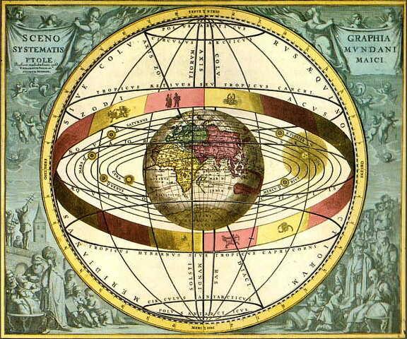 Claudio Tolomeo plantea un modelo de Universo con la Tierra en el centro.